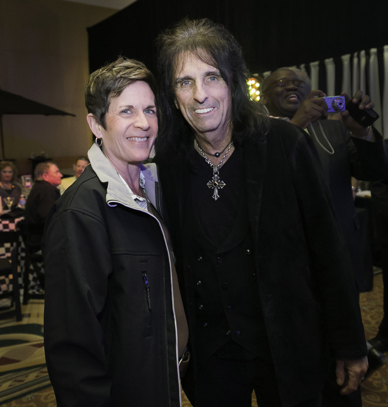 Me and Alice Cooper. (Photo by Adam Schultz/The Clinton Foundation)