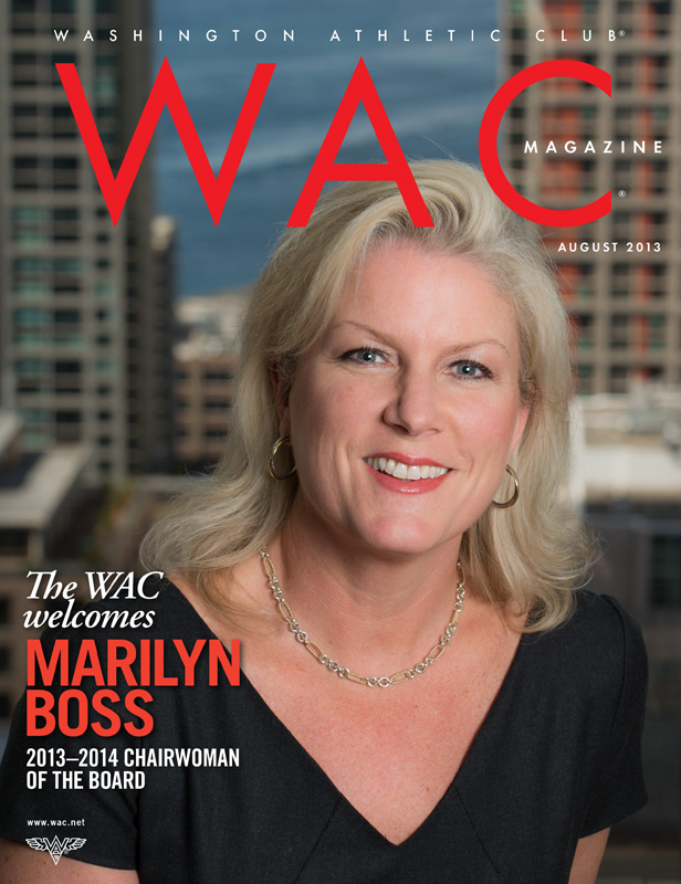 Cover portrait of Marilyn Boss, new chairwoman of the board for the Washington Athletic Club.