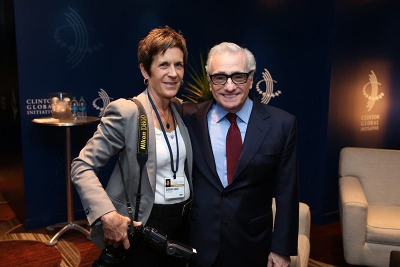 Backstage at CGI with film director Martin Scorsese. Photo by Paul Morse