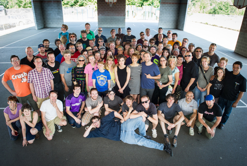 "The amazing cast and crew of ""Laggies."""