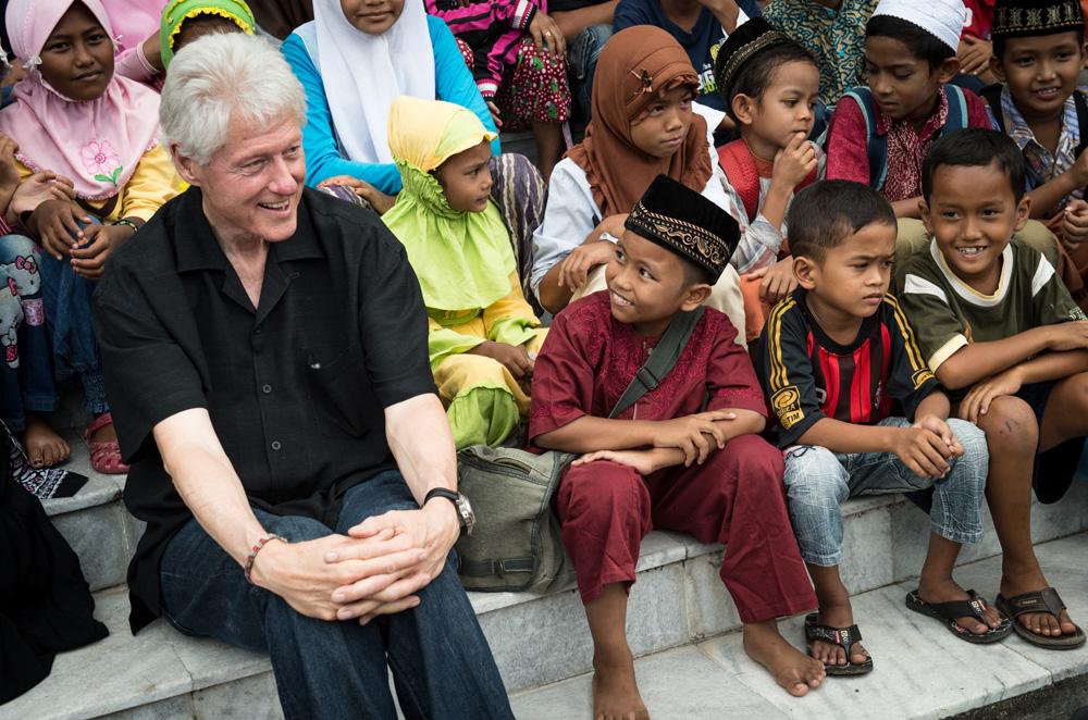 President Clinton in Banda Aceh